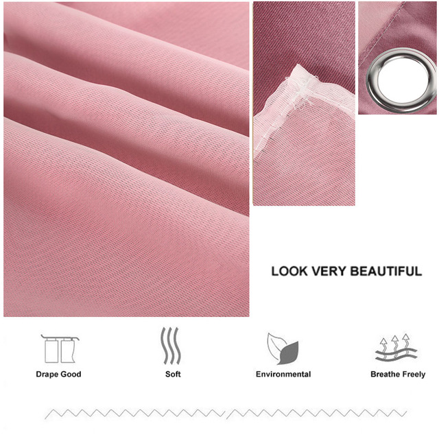 1x2m Window Tulle curtains for living room bedroom Blackout curtains Hollow curtain Nordic star ins princess wind curtain Pink 6