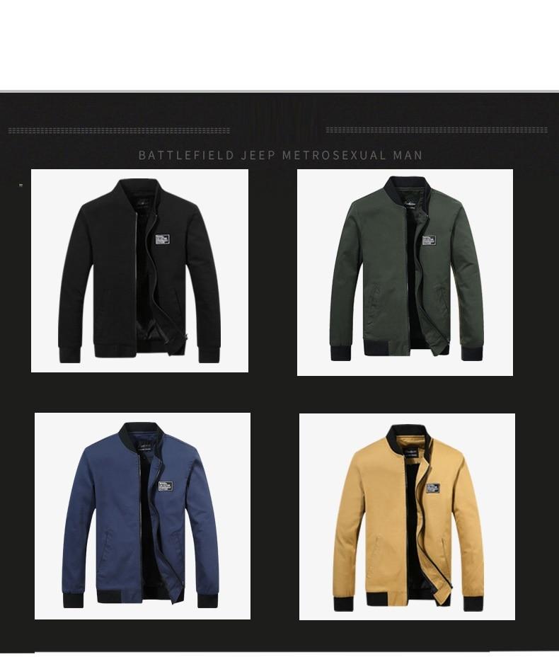 H9210c84a559a484892bf5b54e382b969v 2019 Men Jacket Casual Cotton Washed Retro College Baseball Workwear Business Black Vintage Coat Male Spring Autumn Jacket Men