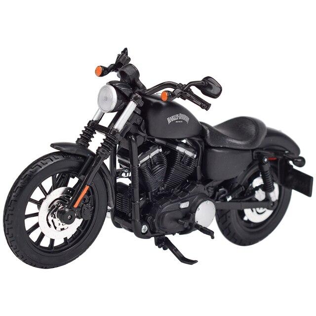 Maisto 1:12 2014 Sportster Iron 883 Dyna sokak Glide yol kral CVO Breakout Electra Glide Diecast alaşım motosiklet modeli oyuncak