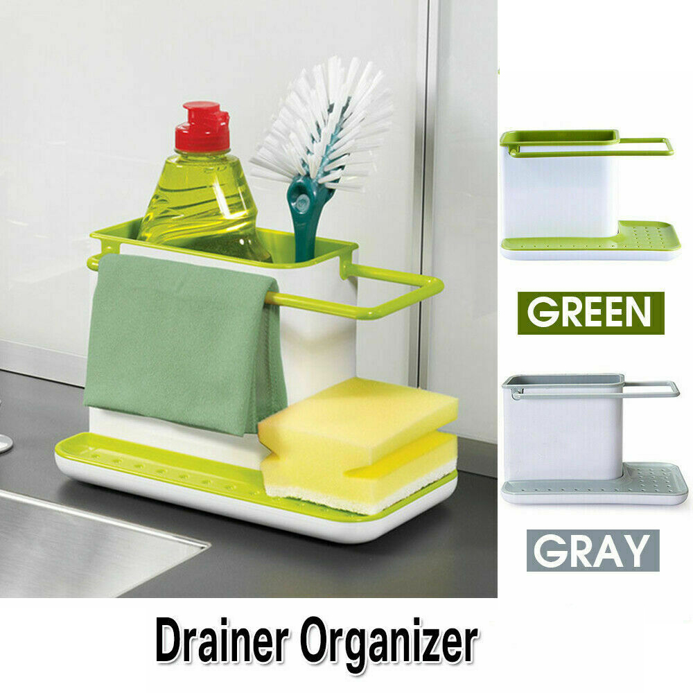 Storage Shelf Sponge Kitchen Draining Sink Box Draining Rack Dish Storage Rack Kitchen Organizer Stands Tidy Utensils Towel Rack