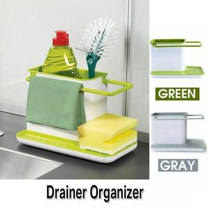 Storage Shelf Sponge Kitchen Draining Sink Box Draining Rack Dish Storage Rack Kitchen Organizer Stands Tidy Utensils Towel Rack(China)