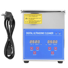 2L Digital Ultrasonic Cleaner Bath Timer Heated Stainless Steel Ultra Sonic Cleaning Machine EU Plug 220V For Jewellery Home