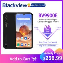Blackview BV9900E Android 10 Helio P90 Octa Core 6 + 128GB IP68 wytrzymały telefon komórkowy 48MP Quad tylna kamera NFC Smartphone Global 4G tanie tanio Nie odpinany CN (pochodzenie) Rozpoznawania linii papilarnych Rozpoznawania twarzy Do 150 godzin 4380 Szybkie ładowanie 3 0