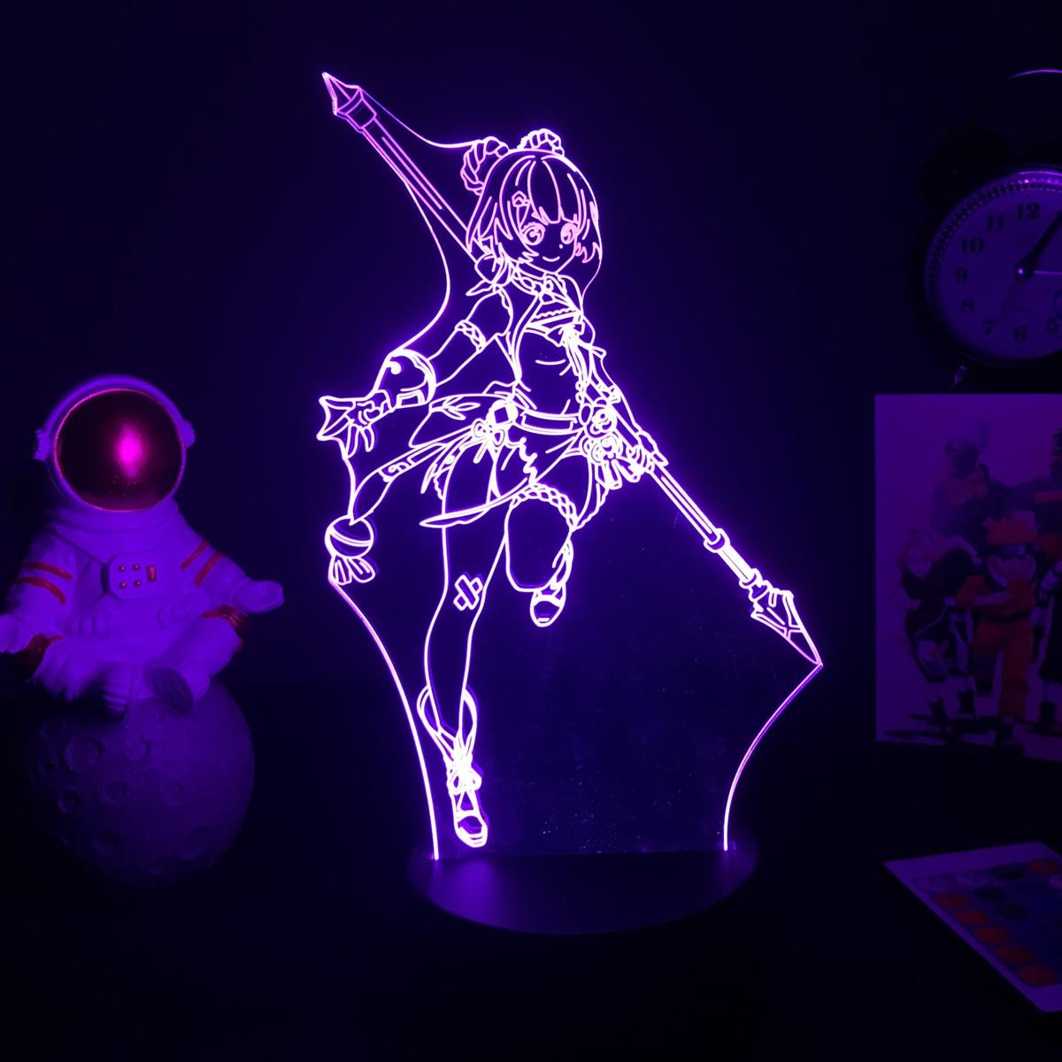 decoração do quarto, luz noturna 3d, adolescentes,