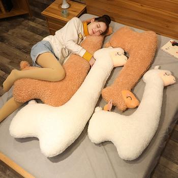 130cm piękny zabawka pluszowa alpaka japoński Alpaca miękkie nadziewane słodkie owce lamy zwierząt lalki poduszka do spania wystrój łóżka domu prezent tanie i dobre opinie sweet mu cheng CN (pochodzenie) Tv movie postaci COTTON MATERNITY 7-12m 13-24m 25-36m 4-6y 7-12y 12 + y Genius Miękkie i pluszowe