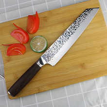 XUAN cuchillo de ternera japonés de 9 pulgadas con patrón amartillado, cuchillo de cocina de acero inoxidable Master Chef Sushi Cuisine