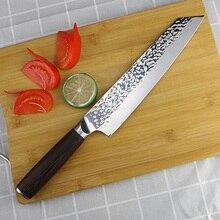 Xuan feng forjado martelo padrão japonês faca de carne aço inoxidável mestre chef sushi cozinha 9 Polegada faca cozinha