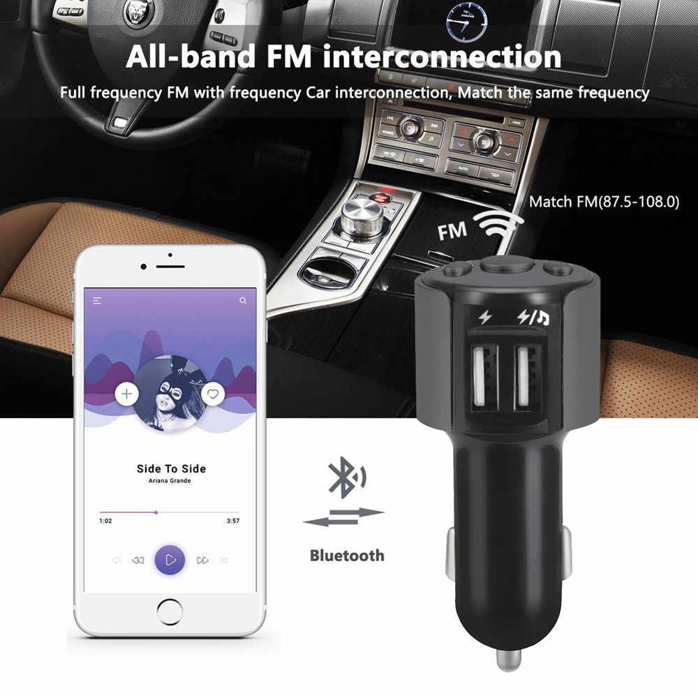 車の Bluetooth FM トランスミッターワイヤレスハンオーディオ受信機の自動 LED MP3 プレーヤー 2.5A デュアル USB 高速車のアクセサリー