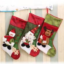 Christmas Gift Stocking Mini Sock Santa Claus Candy Bag Chrismas Tree Hanging Decor Stockings