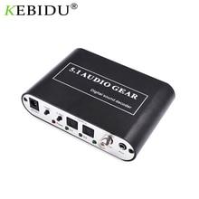 5.1 ch decodificador de áudio spdif coaxial para rca dts ac3 amplificador digital óptico analógico converter amplificador hd áudio rush players/dvd