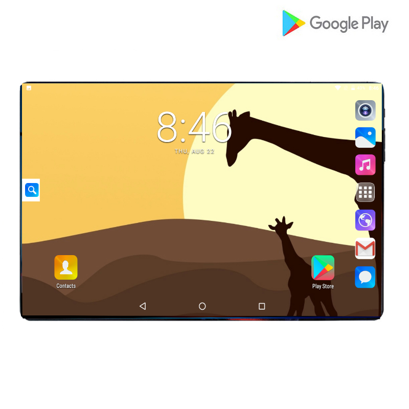 Newest 10'' HD IPS Big Screen 4G Tablets PC MTK8752 Octa Core 6GB 128GB Android9.0 Pie WIFI Tablets 6000mAh With Free Gift