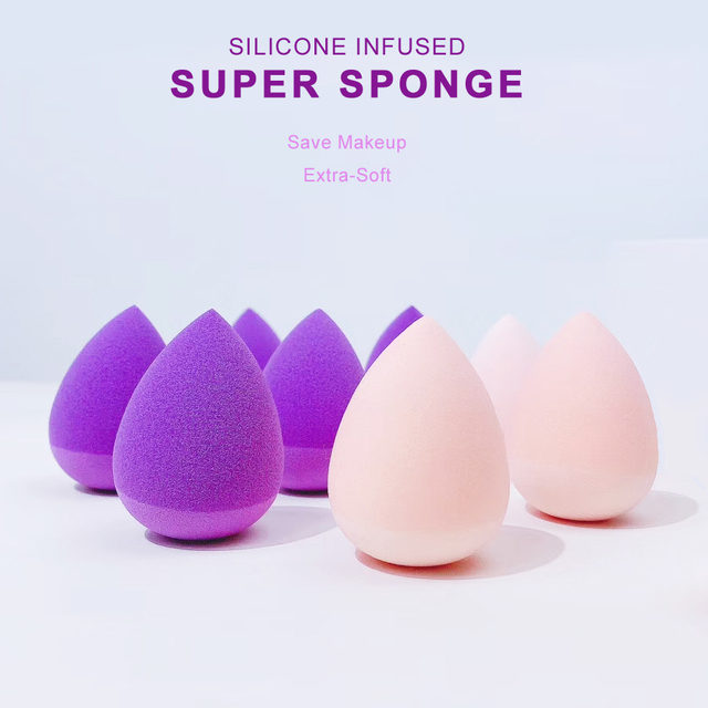 Silicone Infused Super Beauty Makeup Sponge - Save Makeup Ditch Germs Extra-Soft Makeup Sponge Blender 1