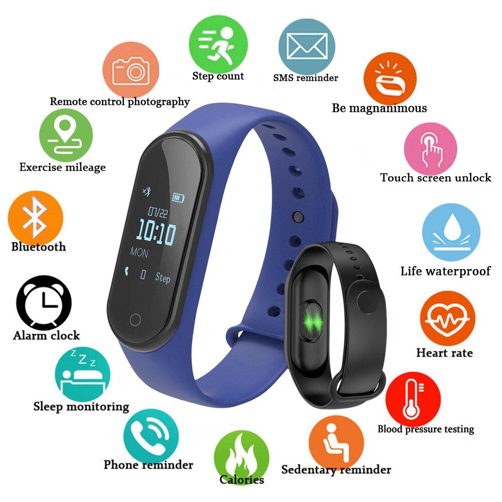 Pulseira inteligente m4 pro pulseira monitor de freqüência cardíaca  smartband rastreador de fitness bluetooth à prova dwaterproof água banda  inteligente| | - AliExpress