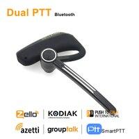 Anysec- auriculares inalámbricos PTT Dual, cascos con Bluetooth E2, PTT, para Android, Radio, teléfono móvil, REAL, ZELLO, Walkie Talkie