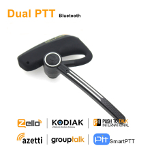 Anysecu Dual PTT Wireless Bluetooth Earphone E2 Bluetooth PTT Headset For Android Radio Cell Phone REAL PTT ZELLO Walkie Talkie