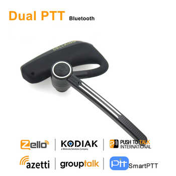 Anysecu Dual PTT Wireless Bluetooth Earphone E2 Bluetooth PTT Headset For Android Radio Cell Phone REAL PTT ZELLO Walkie Talkie - DISCOUNT ITEM  15% OFF All Category