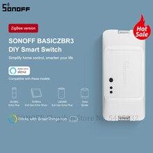 SONOFF BASICZBR3 DIY Smart Zigbee Light Switch MINI Timing Relay Module Wireless Remote Switch Works With Alexa SmartThings Hub