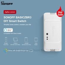 Sonoff interruptor de luz zigbee diy, mini módulo de relé de temporização, interruptor remoto sem fio que funciona com alexa, smartthings e hub