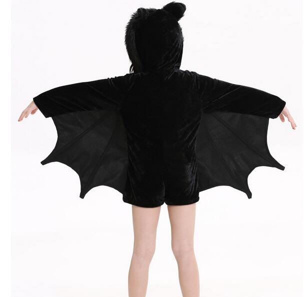 Детский костюм для косплея аниме «Бэтмен» для девочек, Детский костюм на Хэллоуин, черный комбинезон на молнии для девочек, одежда с Бэтмено