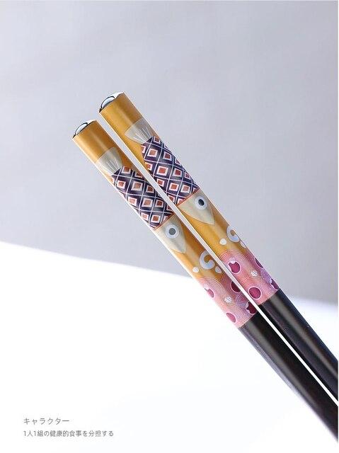 Фото 1 пара деревянные бамбуковые палочки для еды в японском стиле