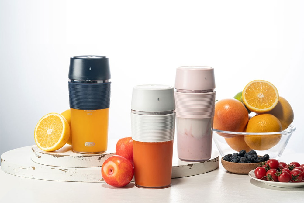H9212aea8c54e4f109fa5b888a89a65a1J XIAOMI MIJIA Bud BR25E Blender Portable Fruit Cup Electric Kitchen Mixer Juicer food processor Machine 300ML Magnetic charging