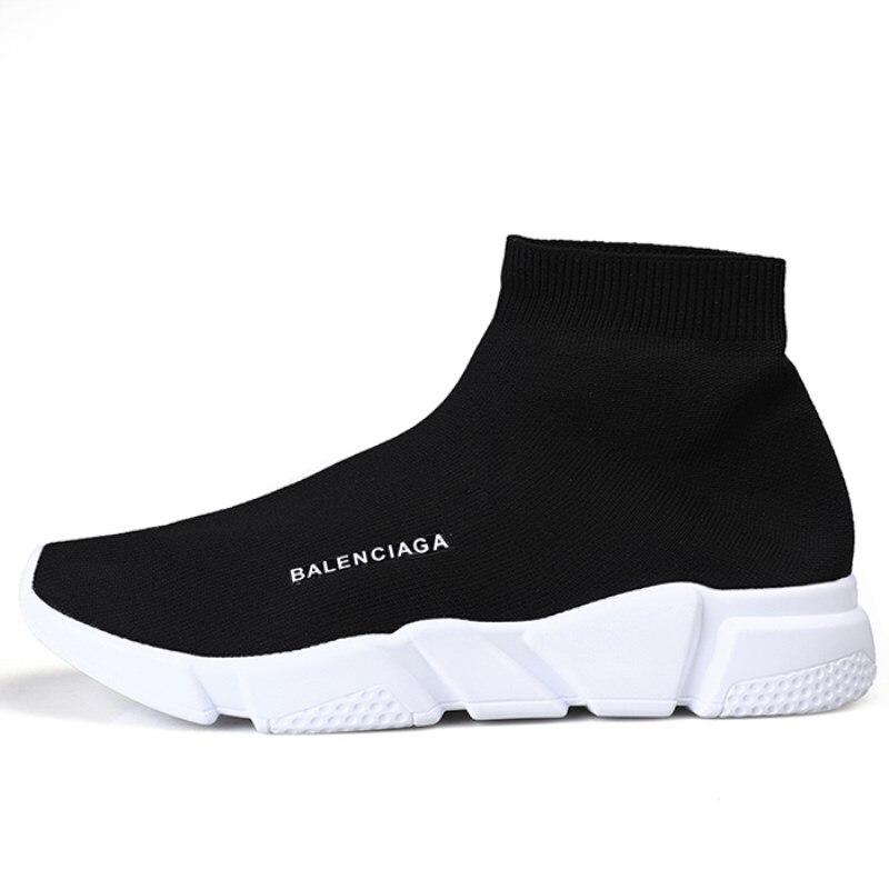 2020New High Top Women Casual Shoes Damping Flying Weaving Couple Sock Shoes Women Fashion Unisex Walking Footwear Zapatos Mujer