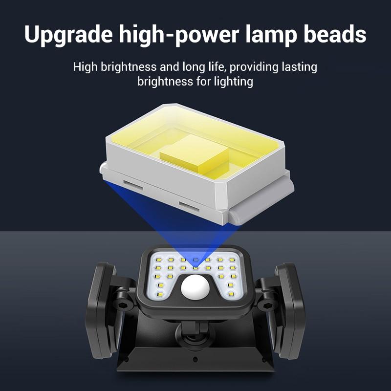 luzes de seguranca solar 3 cabeca sensor 04
