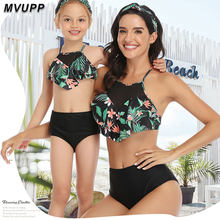Family Swimsuit Mommy and Me Clothes Bikini Beach Shorts mother daughter swimwear baby girl and mom Outfits family maching look(China)