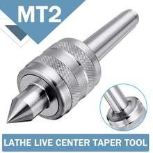 MT2 Accuracy Steel Silver 0.001 Lathe Live Center Taper Tool Live Revolving Milling Center Taper Machine Accessories