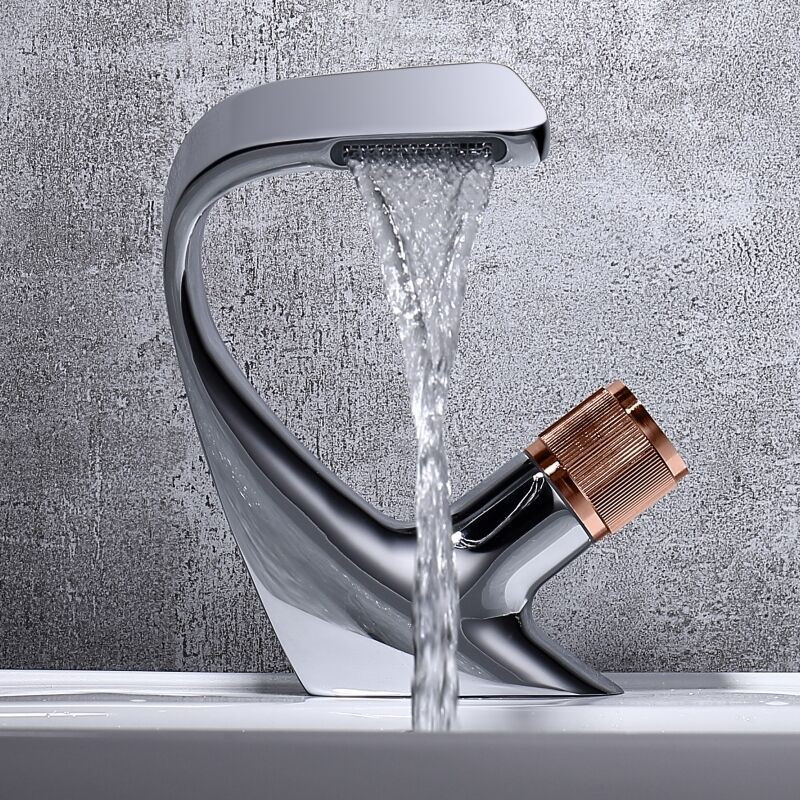 Washbasin Faucet Bathroom Cold and Hot Water Simple Style Basin Faucet Tap Kitchen Bathroom Accessories Washbasin Faucet Bathroom Cold and Hot Water Simple Style Basin Faucet Tap Kitchen Bathroom Accessories