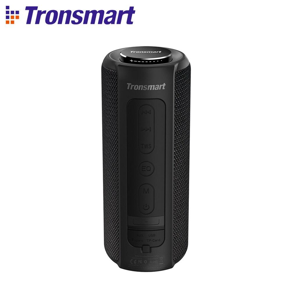Tronsmart t6 mais alto-falante portátil de bluetooth 40 w colums soundbar baixo profundo ipx6 à prova dwaterproof água, soundpulse, função powerbank