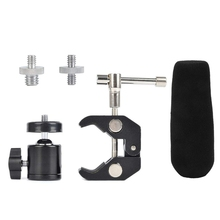 1 Set Super Clamp Mount Articulated Ball Head 1/4Inch-20 Thread Hole Head and 1/4Inch To 5/8Inch Convertion Screw & 1Pcs 12Cm Mi