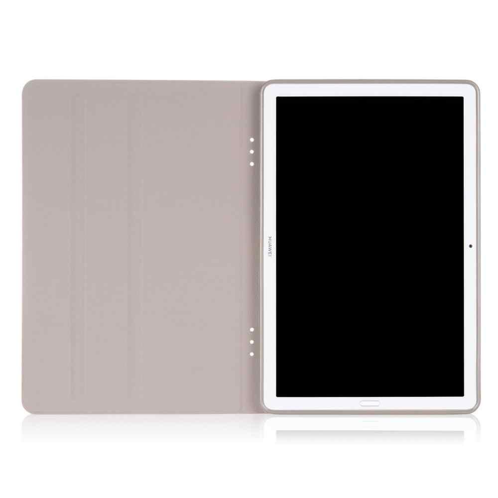 Soporte frontal de silicona cubierta de la caja para Huawei Mediapad M6 10,8 2019 Smart Wake dormir PU Flip de cuero de la Capa Fundas + stylus