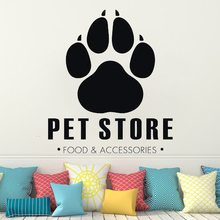 Wall Decal for Pet Grooming Salon Four Paw sticker Pet Store Dog Cat Veterinary clinic Animals Best friend wall decal HQ093 dog 56 cute paw heart wall sticker creative cartoon cat dog lover vinyl wall decal home