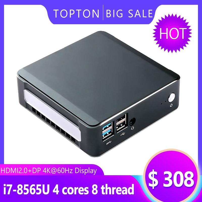 Nuc PC 8Th Gen Intel Core I7 8565U 32GB RAM DDR4 NVME SSD Pocket PC Windows 10 Pro AC Wifi 4K HTPC HDMI2.0 Type-c  Mini Computer