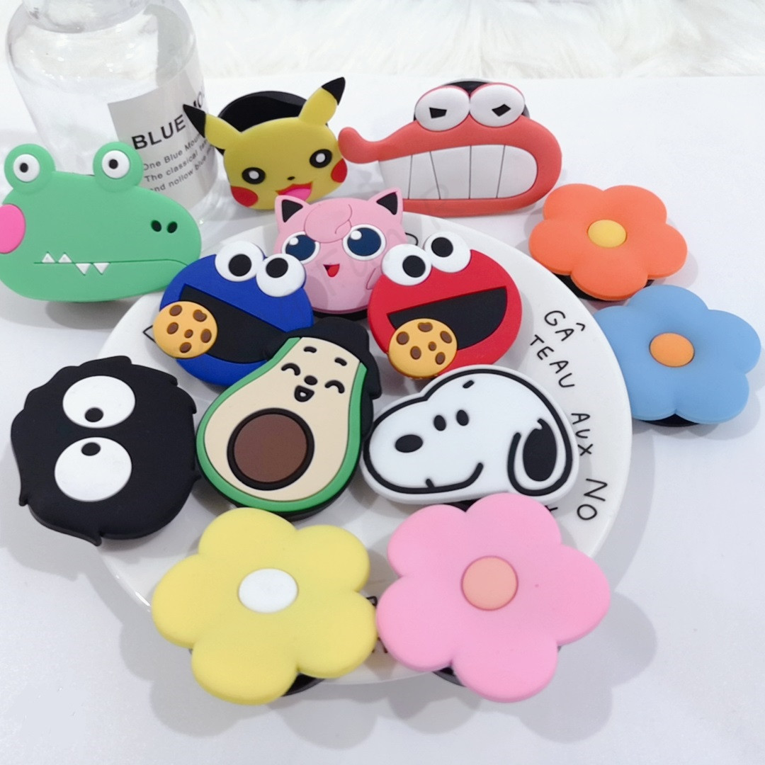 Wholes Socet Mobile Phone Stent Stretch Bracket Cartoon Airbag Phone Expanding Phone Stand Finger Car Phone Holder Pipsocet