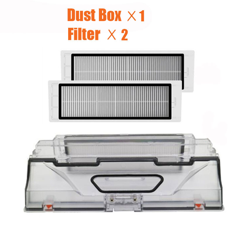 XIAOMI MI Robot Vacuum Cleaner Parts Dust Bin Box With HEPA Filter Replacements For Xiaomi Robotic Sweeper Mi Robot