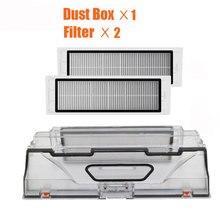 Xiaomi mi Robot Parti per Vaccum cleaner Dust Bin Box Con filtro HEPA DI ricambio Per xiaomi robot spazzatrice mi Robot