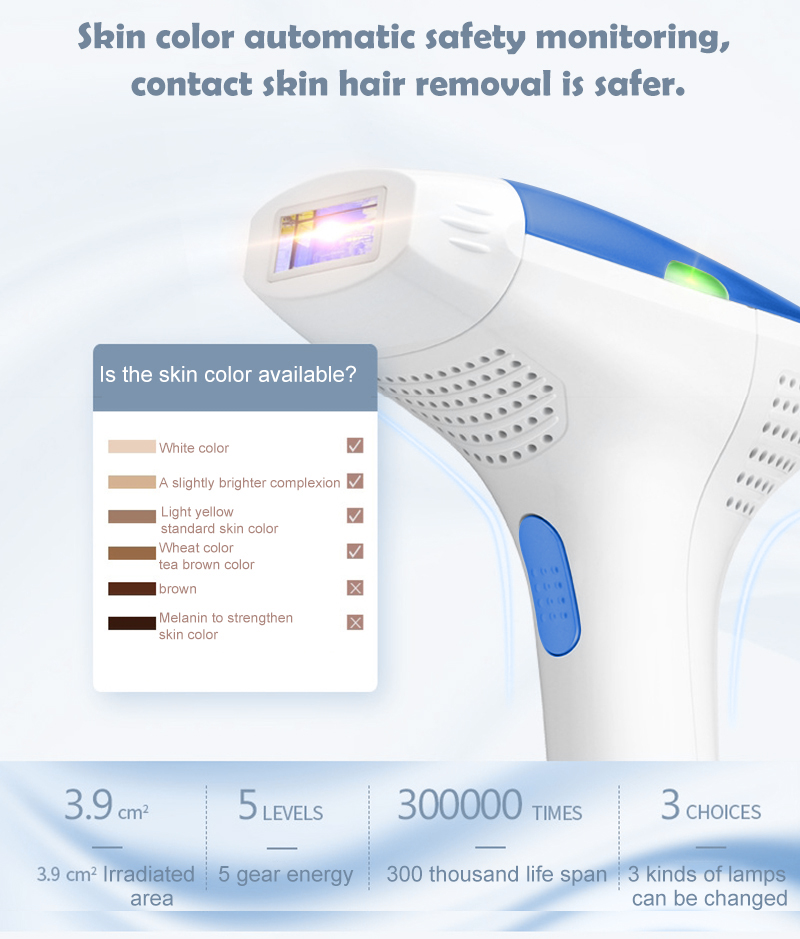 MLAY T3 IPL Laser Hair Removal Face and Body Hair Removal System For Hair Removal +Skin Rejuvenation+Acne Clearance Home Use 2