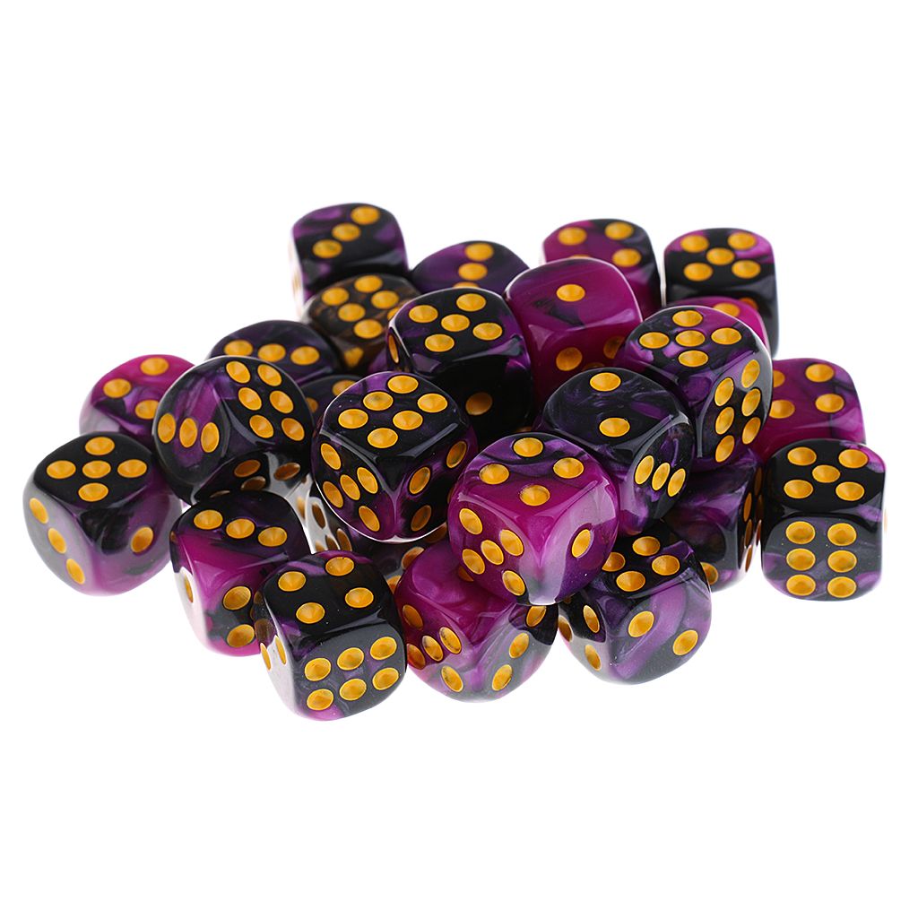 210Pcs 12mm Acrylic D6 Dice Dot Die For Dungeons & Dragons Role Playing Accs