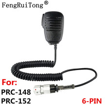 Handheld speaker microphone 6 pin ptt for TRI TCA/AN PRC152 PRC148 Talkie Walkie Adapter prc-152 prc-148?Out of 3.5 audio
