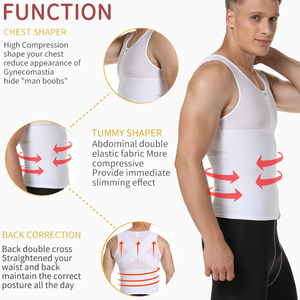 Image 2 - Mens Slimming Body Shaper Gynecomastia Compression Shirts Tummy Control Shapewear Chest Abs Slim Vest Waist Trainer Male Corset