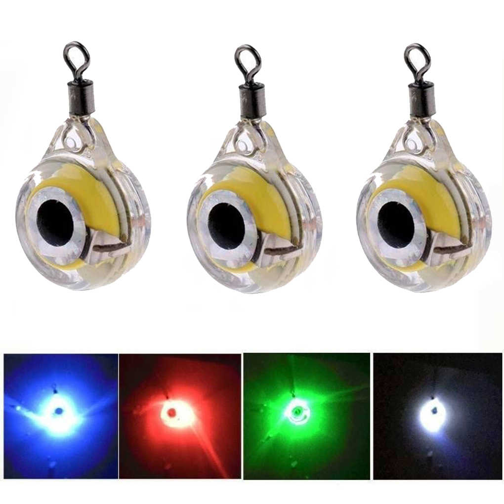 1 pc/3 pcs Mini Richiamo di Pesca Luce LED Subacquea Deep Drop Eye Shape Pesca Calamari Esche Da Pesca Luminoso richiamo per Attirare I Pesci
