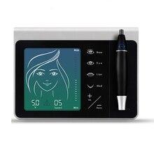 Перманентный макияж цифровая тату машина набор dermografo микроблейдинг бровей подводка для глаз татуировки пистолет сенсорный экран pmu портативная ручка