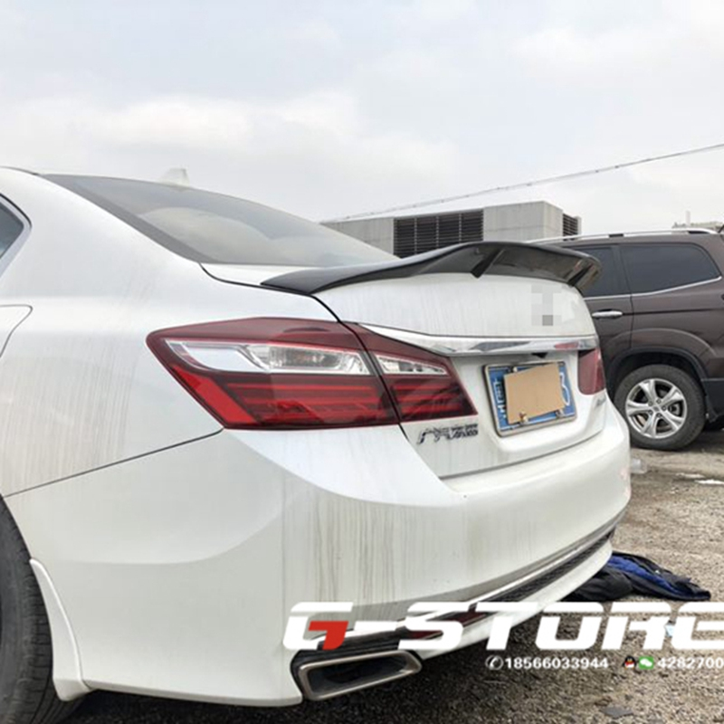 For <font><b>Honda</b></font> <font><b>Accord</b></font> Spoiler 2014 - 2017 Carbon Fiber / FRP Tail R Style Spoiler <font><b>Accessories</b></font> image