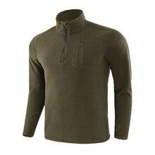 Wojskowe jesienne zimowe męskie taktyczne swetry z polaru odzież wojskowa