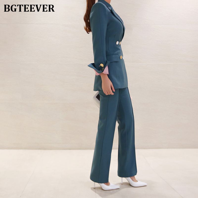 Fashion Work Pant Suits Women Slim Blazer Jacket & Ankle-length Pants OL Style Female Suits 2 Pieces Set 2019 Blazer Suit Set 51