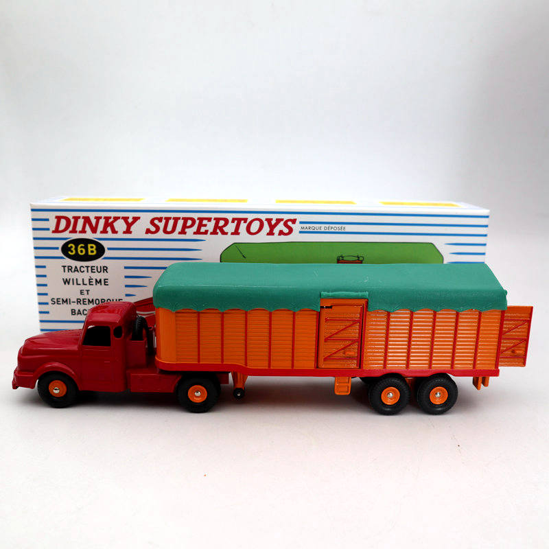 Atlas Dinky Toys 36B Tracteur Willeme ET Semi Remorque Bachee Truck Diecast Models Collection Auto Car