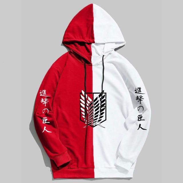 New Summer Anime Brand  Attack on Titan  Printing The Sharingan Hoodies Pullover Sweatshirt Harajuku Hip Hop Thin Clothing 1