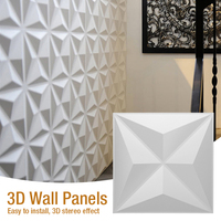 3D PVC Wall Panel Waterproof 3D Wall Decor